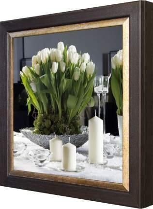 """Ключница """"Тюльпаны со свечами"""" Венге"""