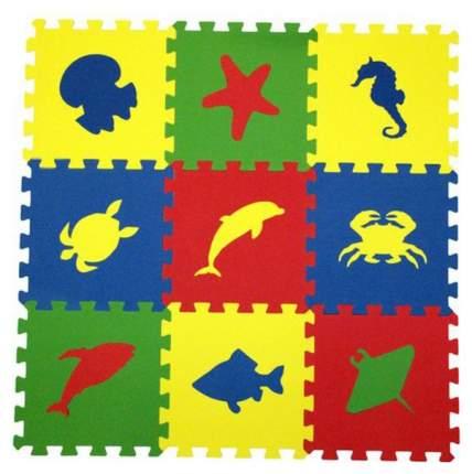Мягкий пол универсальный Eco Cover 33МП1/МЖ 9 деталей 33х33 Морские Животные
