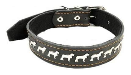 Ошейник для собак Геогазтехнология Кожаный на синтепоне №35