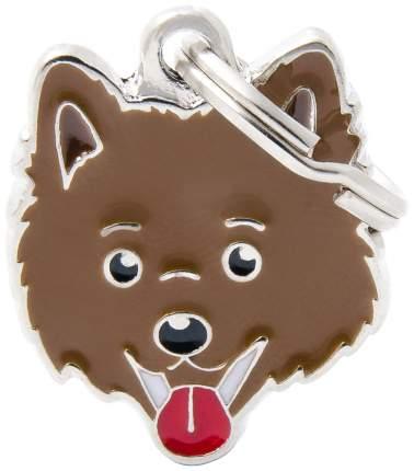 Адресник для собак My Family Friends Шпиц (2,5 х 2,5 см, Коричневый)