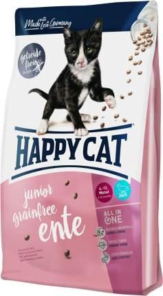 Сухой корм для котят Happy Cat Junior Grain Free, утка, 4кг