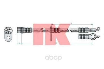 Шланг тормозной системы Nk 8545164 задний правый