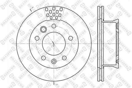 Тормозной диск Stellox 6020-3334V-SX