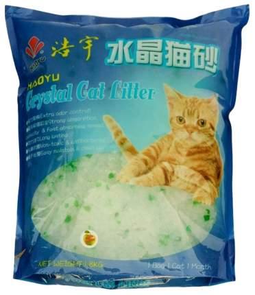 Впитывающий наполнитель для кошек Haoyu силикагелевый, яблоко, 3.6 кг, 7.6 л