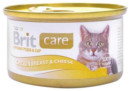 Консервы для кошек Brit Care, курица, сыр, 48шт, 80г