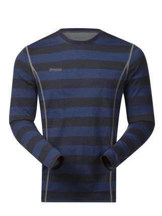 Лонгслив Bergans Akeleie Shirt 2019 мужской темно-синий/черный, L