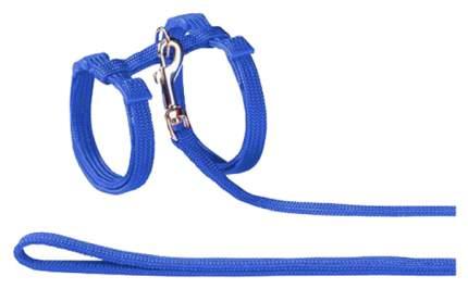 Шлейка с поводком для кошек Nobby обхват 17-22 см, синий