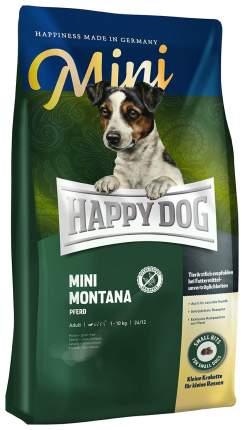 Сухой корм для собак Happy Dog Supreme Mini Montana, для мелких пород, конина, 4кг