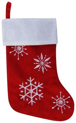 Чулок для подарков Snowmen Снежинки Красный 46 см