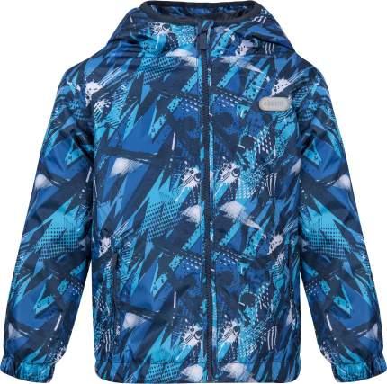 Куртка утепленная для мальчика Barkito синяя с рисунком, S19B4003P(2) р.110