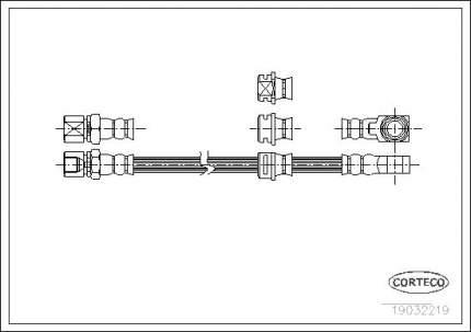 Шланг тормозной системы CORTECO 19032219