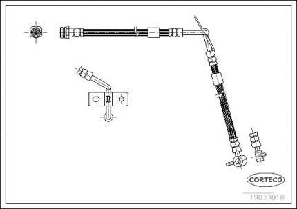 Шланг тормозной системы CORTECO 19033018