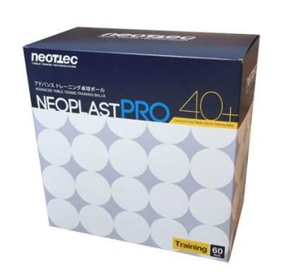 Мячи для настольного тенниса Neottec Neoplast PRO 40+ белые, 60 шт.