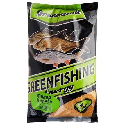 Прикормка летняя Green Fishing Energy Фидер Карась 1 кг