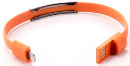 Кабель-браслет Gmini GM-WDC-300O Lightning Orange