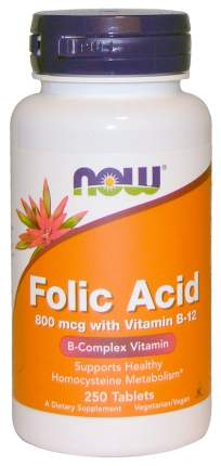Фолиевая кислота NOW Folic Acid 250 табл.