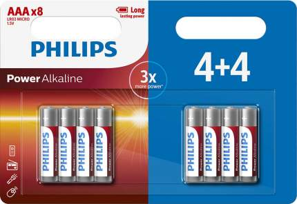 Батарейки Philips LR03P8BP/10 (ААА) Power