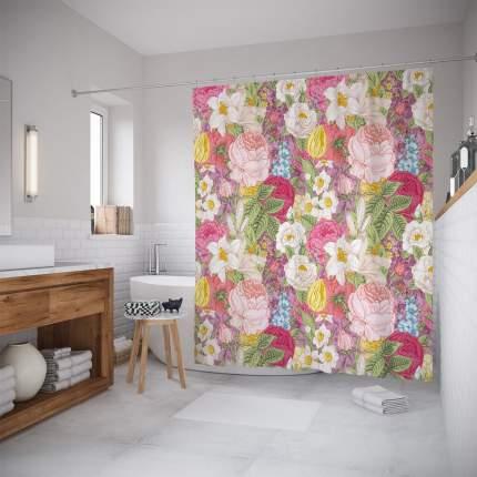 Шторы для ванной JoyArty «Плотные насаждения» 180x200
