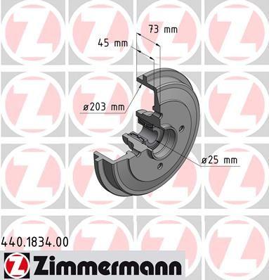 Тормозной барабан ZIMMERMANN 440.1834.00