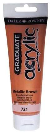 Акриловая краска Daler Rowney Graduate коричневый металлик 120 мл
