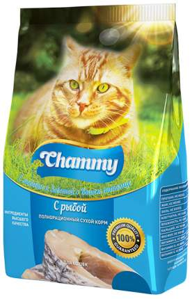 Сухой корм для кошек Chammy, рыба, 0,35кг