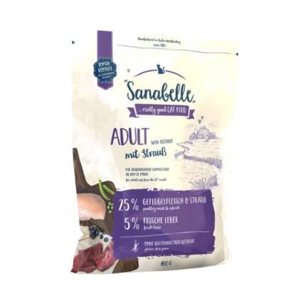 Сухой корм для кошек Sanabelle Adult, страус, 0,4кг