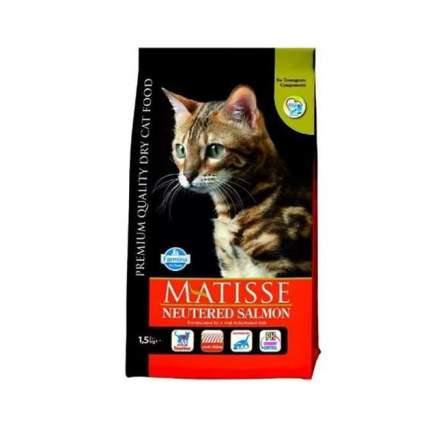 Сухой корм для кошек Farmina Matisse Neutered, для стерилизованных, лосось, 1,5кг