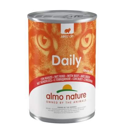 Консервы для кошек Almo Nature Daily говядина, 24шт, 400г