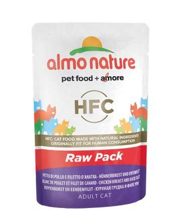 Влажный корм для кошек Almo Nature HFC Raw Pack, курица, утка, 55г