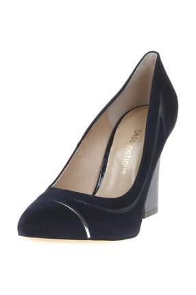 Туфли женские Shoobootique 4481-GRANAT-ZAMSZ-ZLOTO-AN синие 36