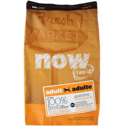 Сухой корм для собак NOW Fresh Adult, все породы, индейка, утка, овощи, 11,35кг