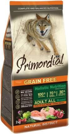 Сухой корм для собак Primordial Grain Free Adult Mini, курица, лосось, 2кг