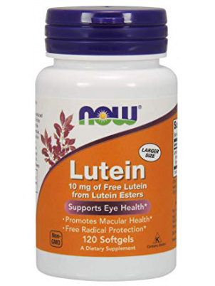 NOW Foods Lutein капсулы 10 мг 120 шт.