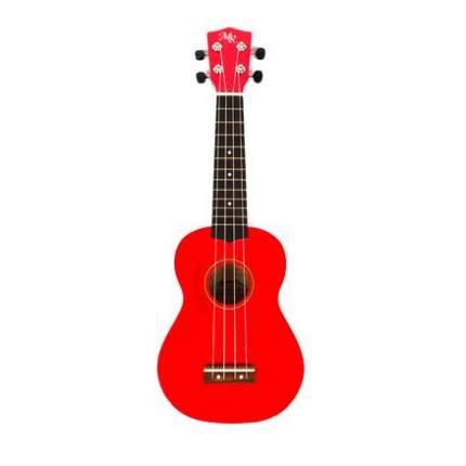 Укулеле сопрано Martin Romas 21rd,  чехол в комплекте, цвет красный