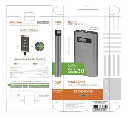 Внешний аккумулятор InterStep PB15000QC4U 15000 мА/ч (IS-AK-PB15AQC4U-000B201) Grey