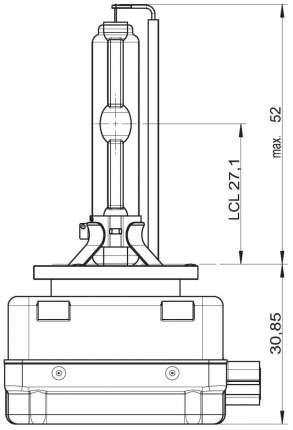 Лампа ксеноновая автомобильная OSRAM D3S КСЕНАРК 35W (66340XNB)