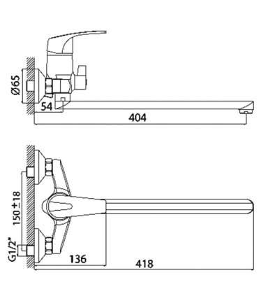 Смеситель универсальный Rossinka Silvermix D40-32 хром