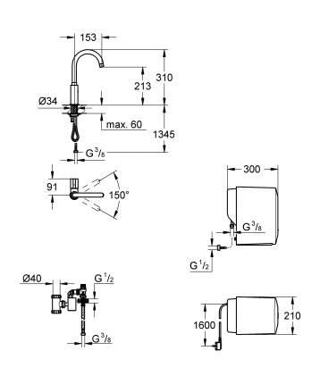 Смеситель для кухонной мойки Grohe Red Mono 4 30085DC0 суперсталь