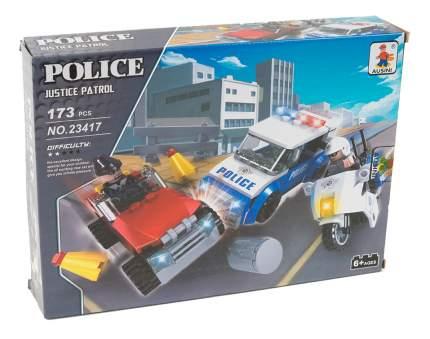 Конструктор пластиковый Ausini Полиция. Погоня