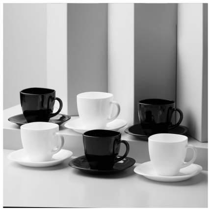 Чайный набор карин 220 мл черно-белый