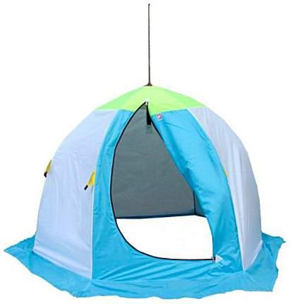 Палатка-автомат Медведь 2 двухместная голубая/зеленая