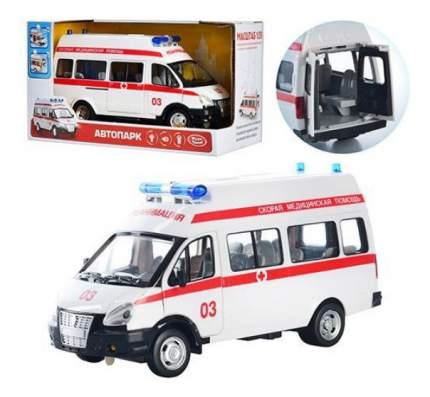 Микроавтобус инерционный Скорая помощь свет звук 1:29 Play Smart 9707-b