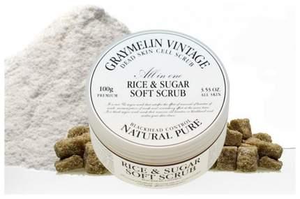 Скраб для лица Graymelin с сахаром и рисом 50 мл Белый