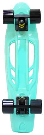 """Скейтборд Y-Scoo Skateboard Fishbone с ручкой 22"""" 405-A с сумкой Aqua Black"""