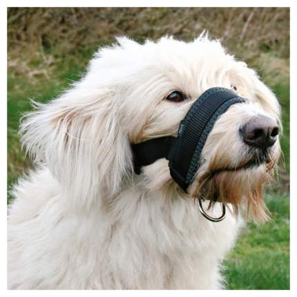 Намордник для собак TRIXIE MUZZLE LOOP, нейлон, черный, L, обхват морды 18-30 см