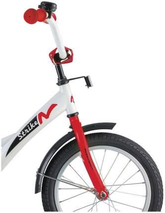 Велосипед Strike со страховочными колесами, черно-красный Novatrack Strike 16''