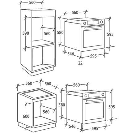 Встраиваемый электрический духовой шкаф Candy FCP615WXL/E1