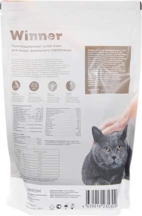 Сухой корм для кошек Winner, для домашних, курица, 400 г