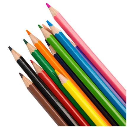 Карандаши цветные ГАММА Классические 12 цветов 050918_02