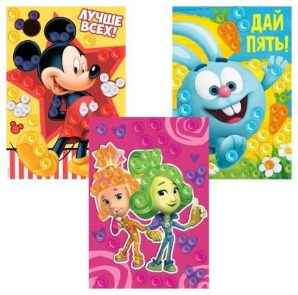 Набор аппликаций пуговками, Смешарики, Микки Маус и друзья, Фиксики Disney
